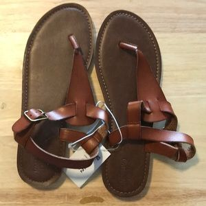 NWT Brown Mossimo sandals size 8.5